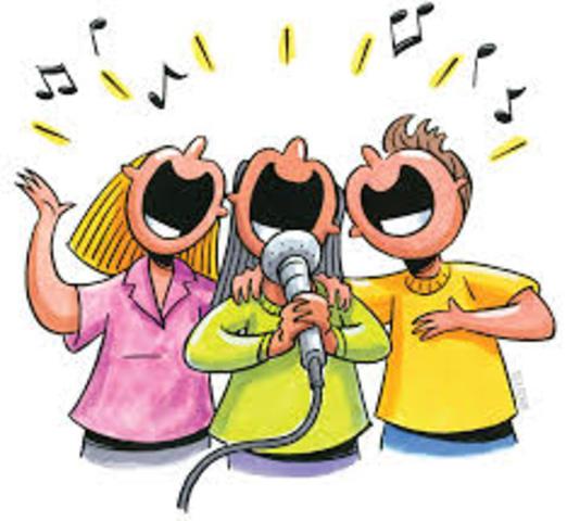 Joined church choir