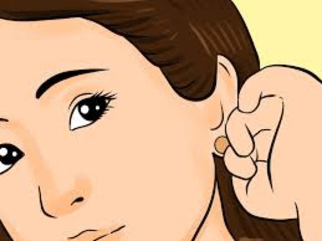 2.Ears pierced