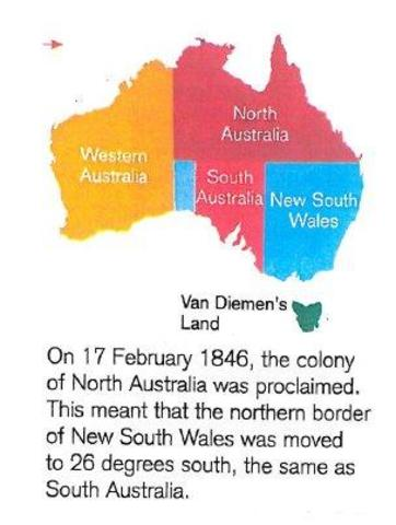 the colony of north australia is proclaimed