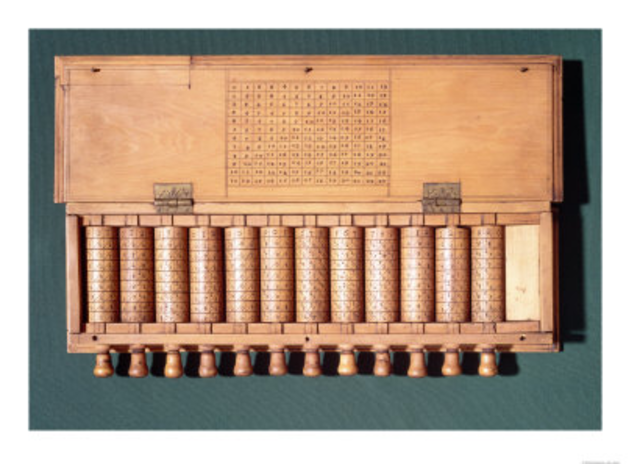 """1614 - Napier inventa los logaritmos y los """"huesitos de Napier"""""""