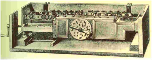 1671 - Leibnitz crea una máquina que multiplica