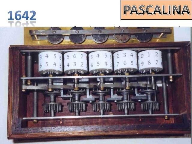 pascal creó una máquina capaz de sumar en forma automática
