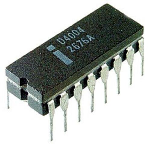 1971 - Nace el microprocesador.