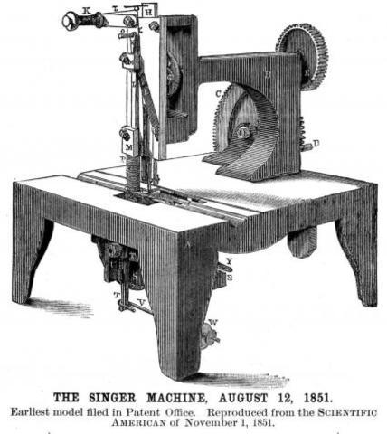 Maquina de coser por Singer