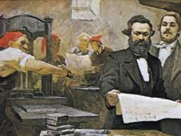 Publicación de manifiesto del partido comunista