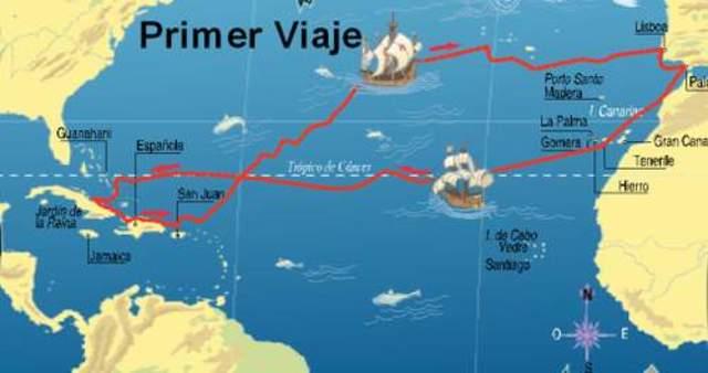 Partida de las naves de Cristóbal Colón