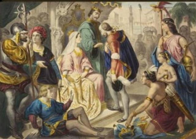 Fin del primer viaje de Colón