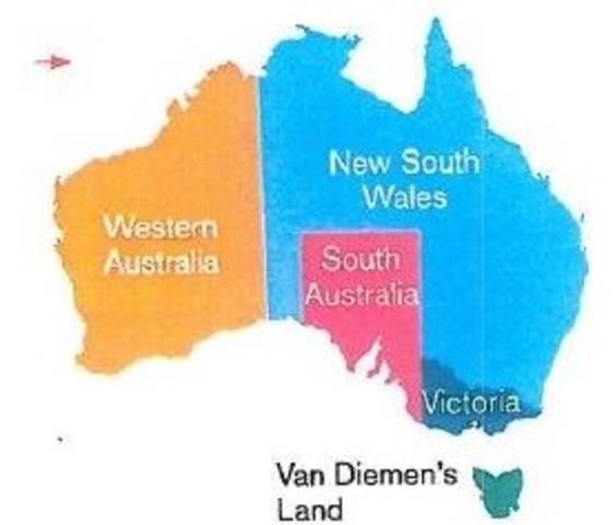 Swan river Colony to Western Australia