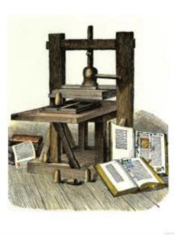 Años 1401- 1500 Imprenta