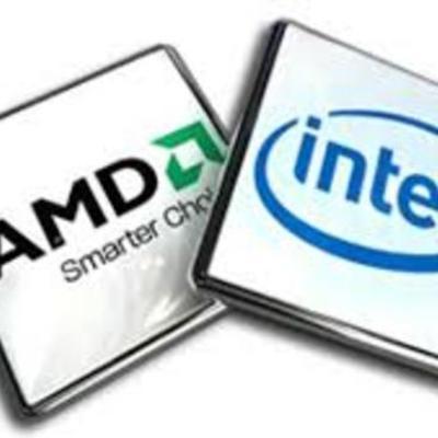 Evolución de los microprocesadores INTEL Y AMD. timeline