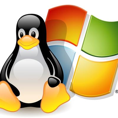 Evolución de Windows y linux  timeline