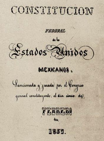 Creacion de la constitución de 1857