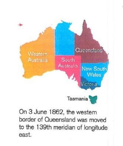 Queensland border was moved West.