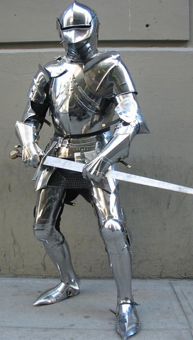 Full Pate armour of the Medival times