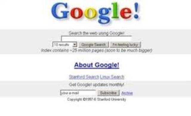 Se creo el buscador GOOGLE