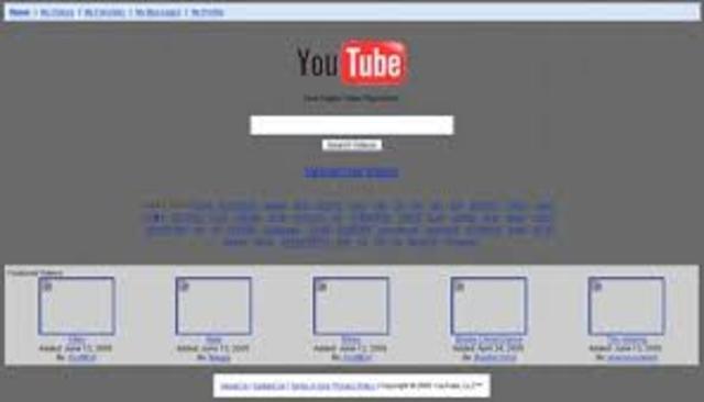 Primer motor de videos YOU TUBE
