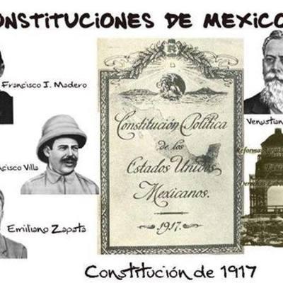 Historia de la constitución política de los Estados Unidos Mexicanos timeline
