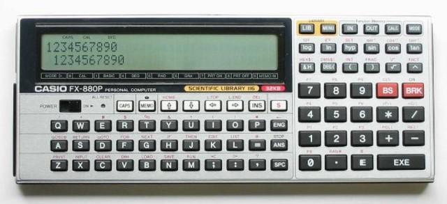 Las calculadores programables de Casio, se dividían en dos ramas, la S para los modelos estándar y la G para los de mayor funcionalidad