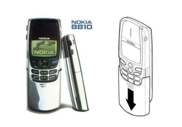 El Nokia 8810, fue el primer terminal candy bar
