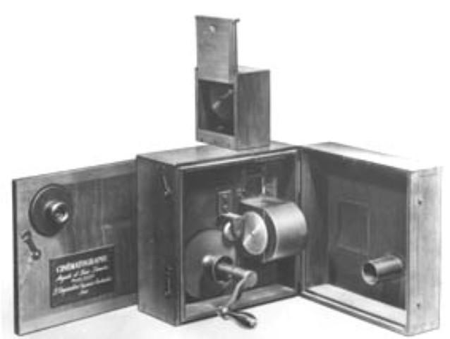 Los hermanos Lumier inventan el cinematografo
