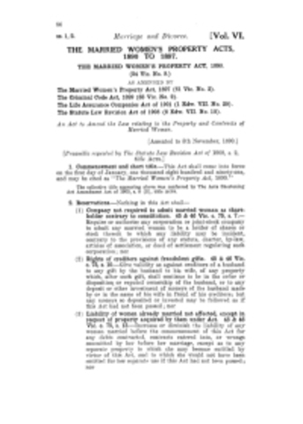 Married Women's Property Act