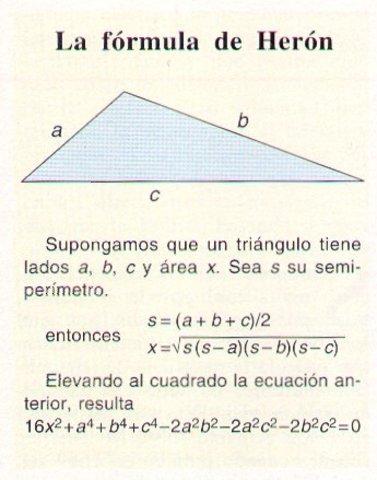 Área de los triángulos sin conocer la altura (60 d.C)
