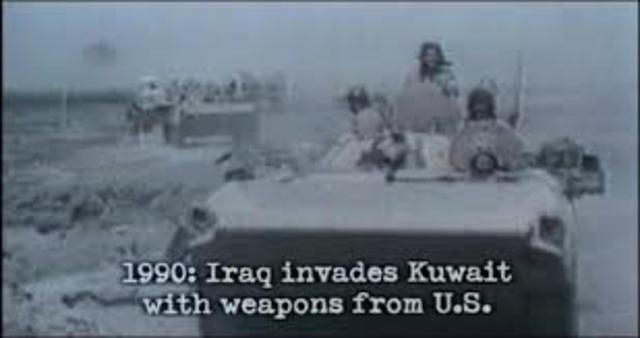 Iraq invades Kuwait