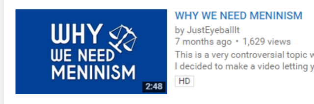 """""""Why we need meninism"""" video"""
