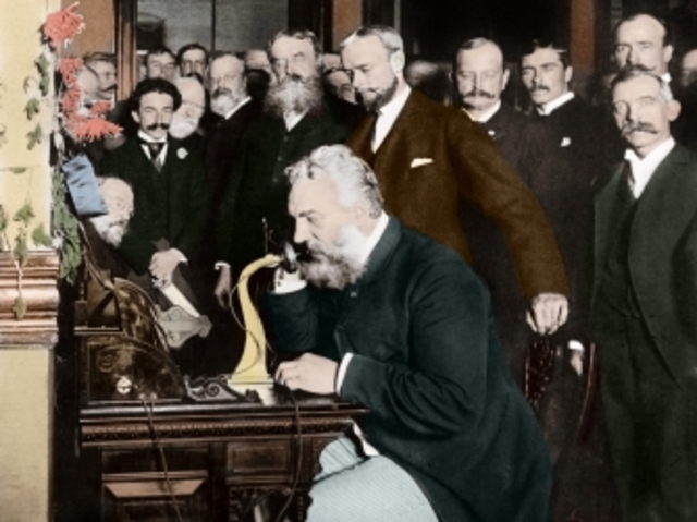 Alexander G. Bell patents the Telephone