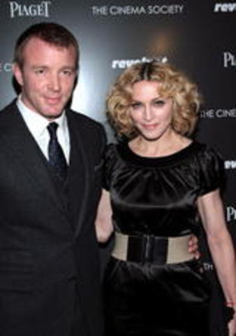 Madonna and Guy Ritchie got married.