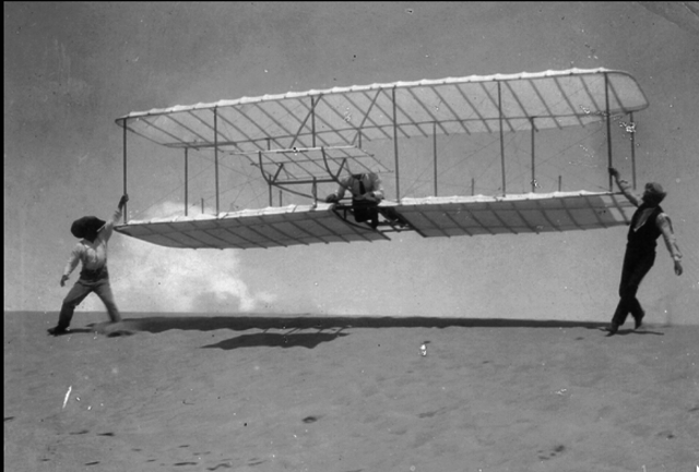 The First Flight with an engine