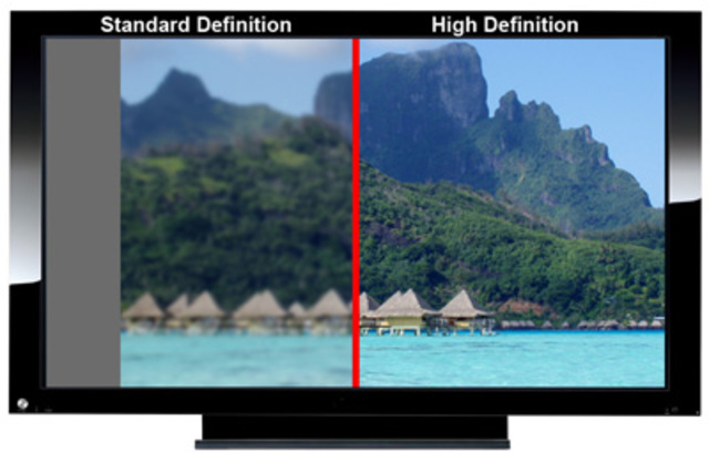 Viewers now have the option of viewing television channels in High Definition