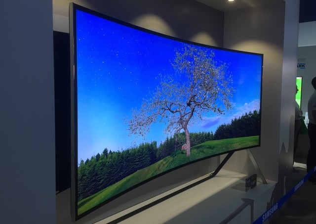 The invention of curved flat TV screens are created