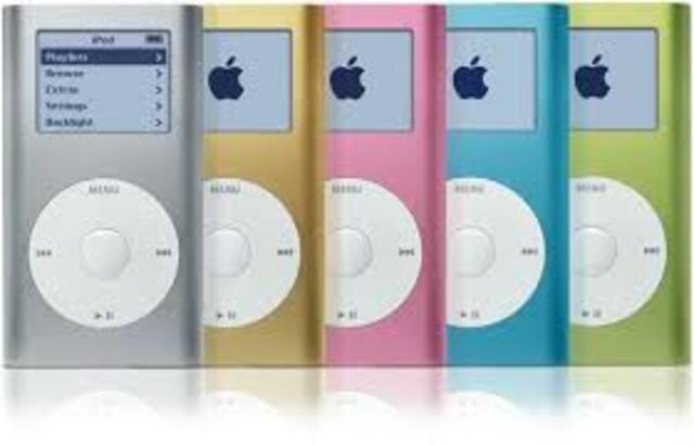 """La compañia """"Apple"""" lanza su novedozo producto Ipod."""
