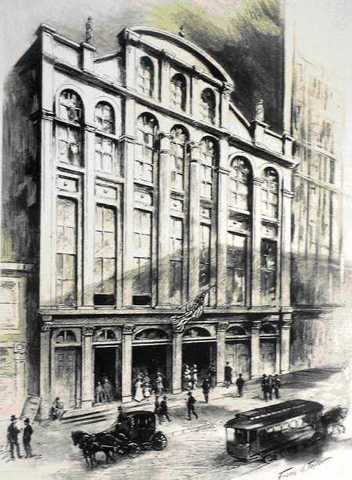 The Chestnut Street Theatre uses the first gas light.
