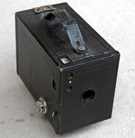 First hand-held box camera