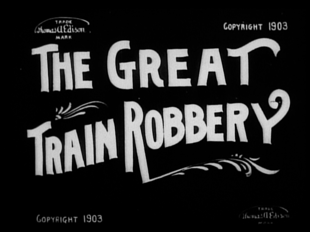 The Great Train Robbery is filmed