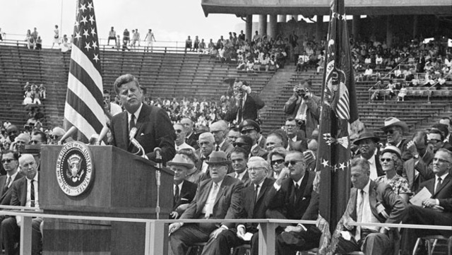 John F. Kennedy launches reasearch program