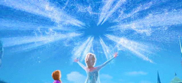 Elsa thaws Arendelle