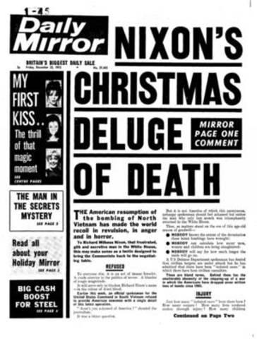 christmas bombings begin - Christmas Bombings