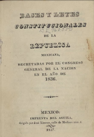 Leyes constitucionales o siete leyes
