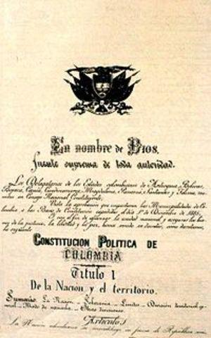 Se decreta la constitución de 1886