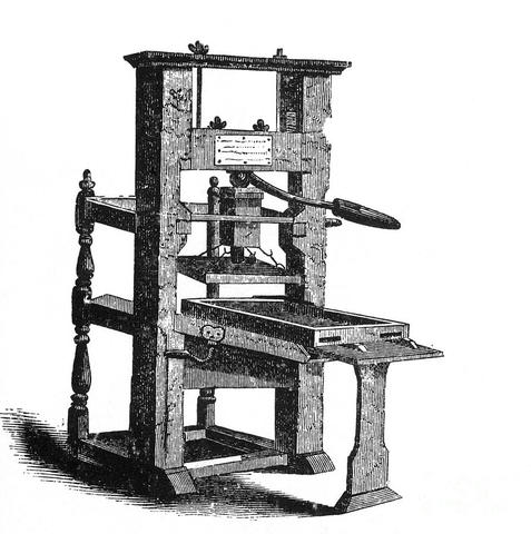 the printer printing press timeline timetoast timelines