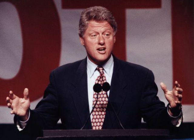 Bill Clinton ran for Democratic Party