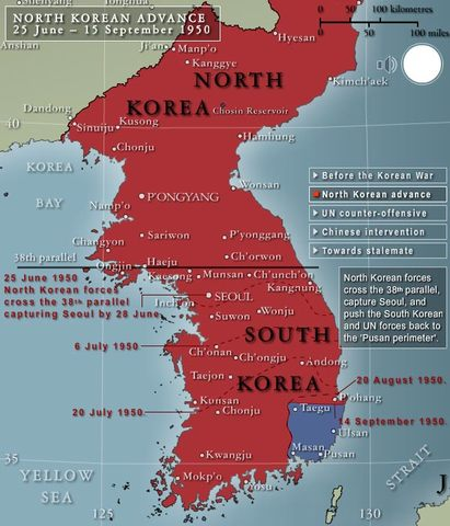Significant Events of the Korean War timeline | Timetoast timelines