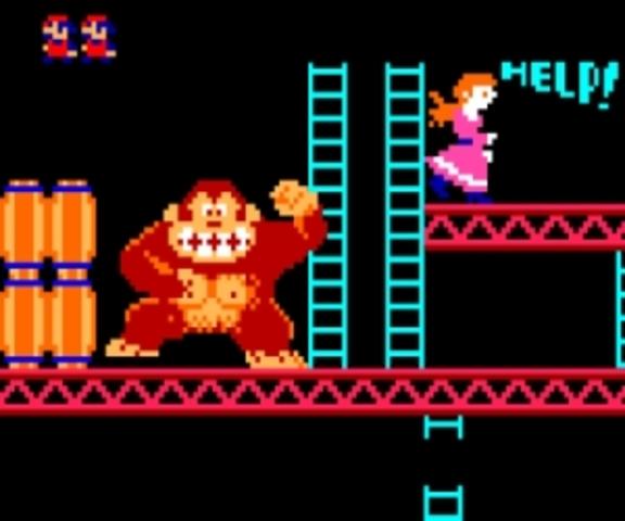 Donkey Kong breaks into the arcade scene