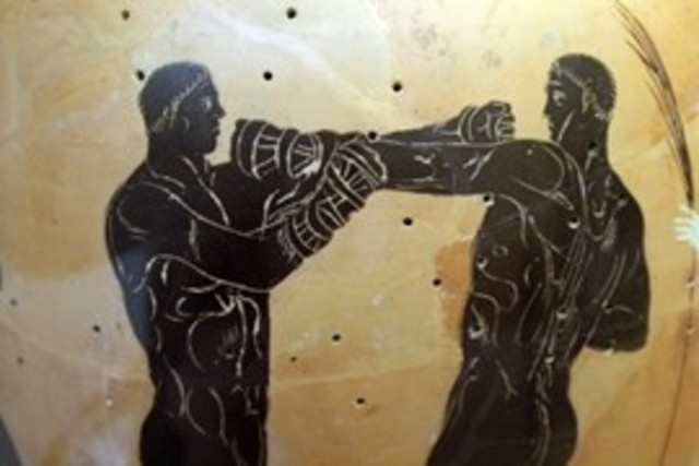 (BCE 688) (Greek boxing). Greeks later introduced boxing (pygme/pygmachia) to the Olympic Games in BCE 688.