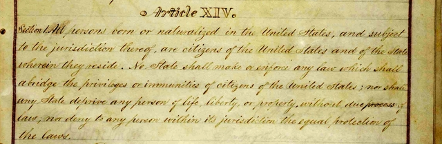 The 14th Amendment is added
