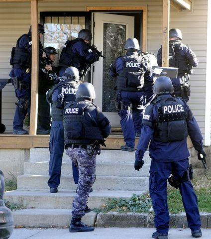 Raided by Police