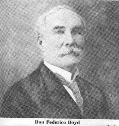 4 - Federico Augusto Boyd López (1 de octubre de 1910 - 5 de octubre de 1910)